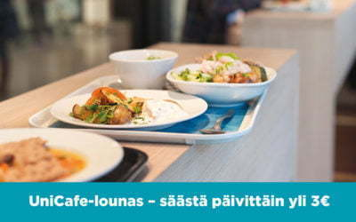 LUNCH AT UNICAFÉ – DAILY SAVINGS OF 3€