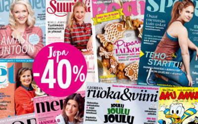 SANOMAS TIDSKRIFTER   – SPARA UPP TILL 40 %